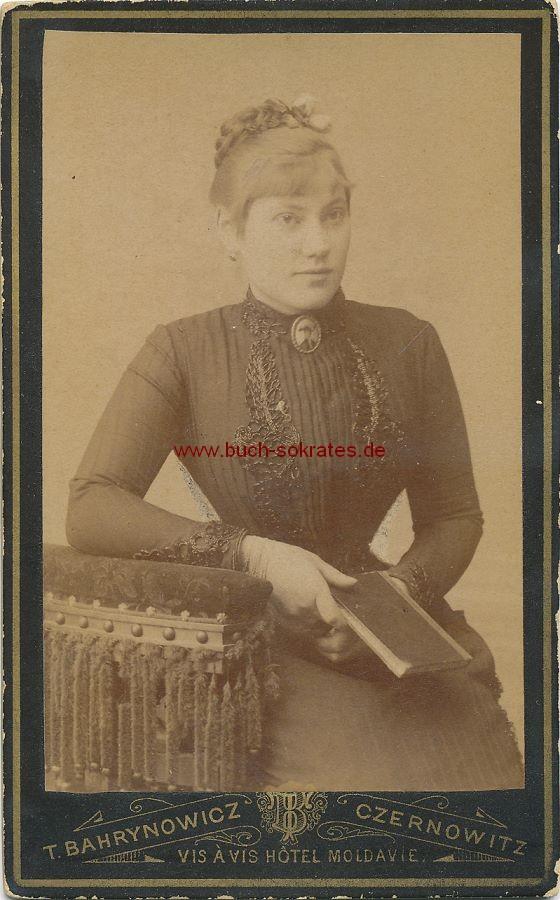 CdV Foto Junge Frau Aus Czernowitz Tschernowitz Ukraine Ca 1880 Zustandsbeschreibung Visitenkarte Carte De Visite