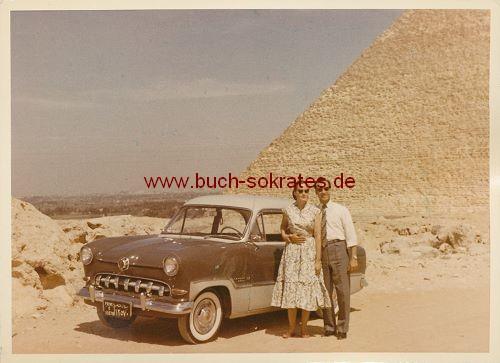 7 Fotos Ägypten-Reise Pyramiden Gizeh (ca. 1955)