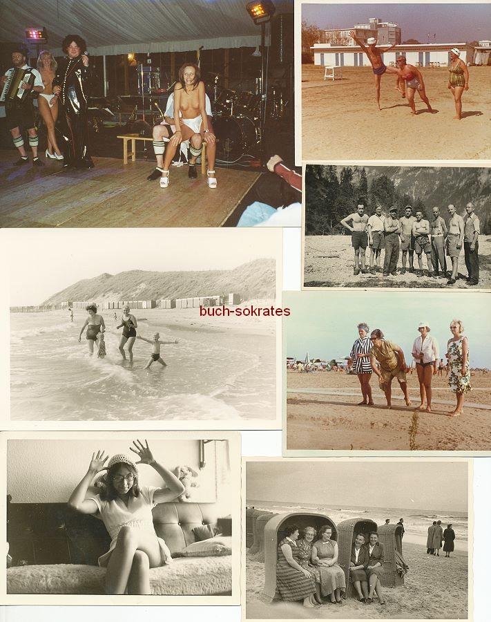 Foto-Konvolut Badekultur / Erotik / Strandleben (ca. 1950-70)