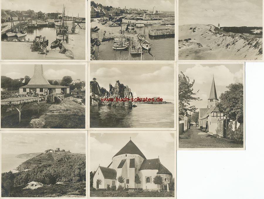 Foto Ansichten Bornholm: Rundkirche, Fischer, Hafen (ca. 1935)