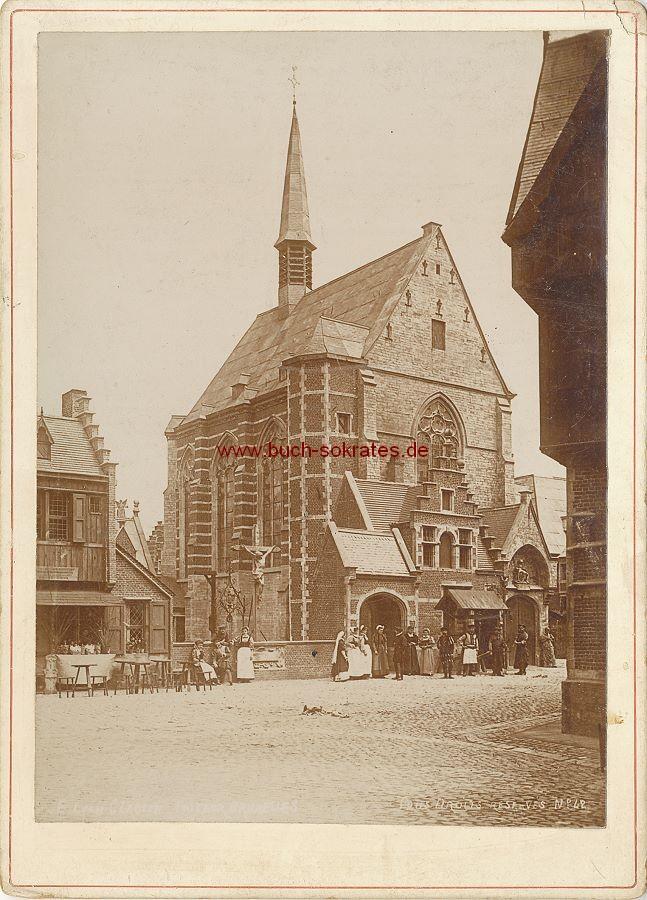 Ansicht Marktplatz / Altstadt (wohl in Belgien) (ca. 1860)