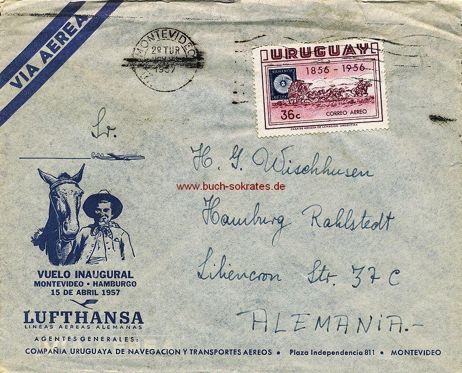 Dokument FFC Vuelo Inaugural Montevideo - Hamburgo (1957)