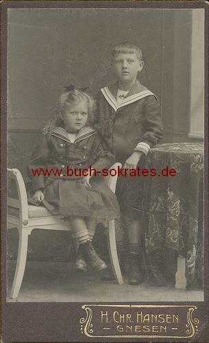 Junges Mädchen u. Knabe aus Gnesen (ca. 1910)
