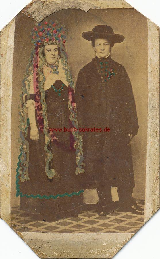 CdV Foto Junges Brautpaar aus Südosteuropa? (ca. 1870)