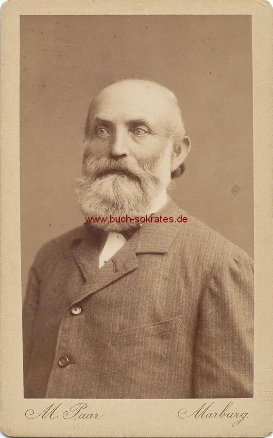 CdV Foto Alter Mann aus Marburg mit Vollbart (ca. 1880)