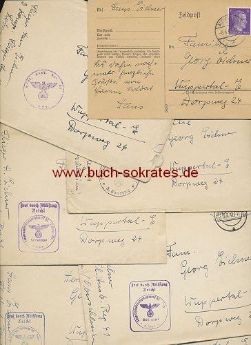 Konvolut Feldpost-Briefe Zweiter Weltkrieg Flieger nach Wuppertal-Elberfeld