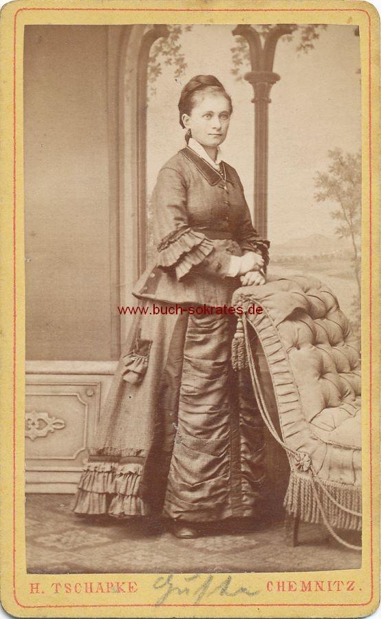 CdV Foto Junge Frau aus Chemnitz (ca. 1870)