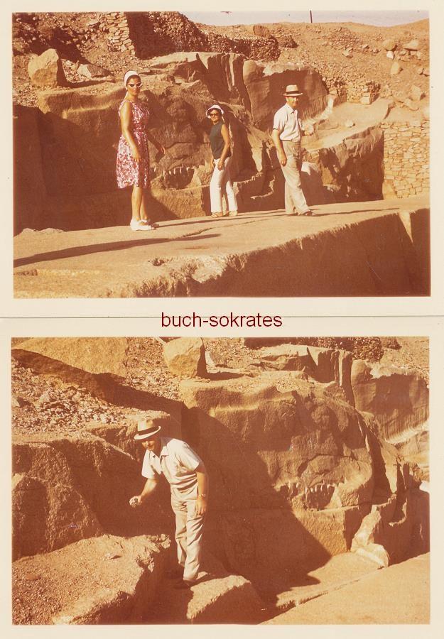 Steinbrüche von Assuan (Ägypten): Unverarbeiteter Obelisk / Unvollendeter Obelisk (ca. 1965)