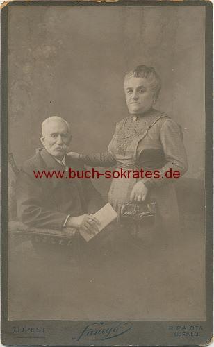 Altes Ehepaar aus Ujpest / Budapest / Ungarn (ca. 1900)