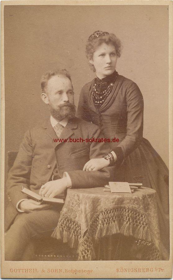 CdV Foto Paar aus Königsberg (Ostpreußen, Kaliningrad) (ca. 1880)