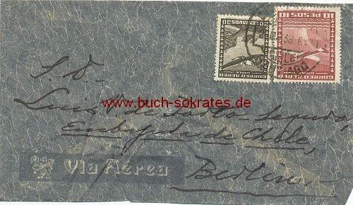 Briefumschlag Embajade de Chile (Botschaft Chiles) Berlin (1938)