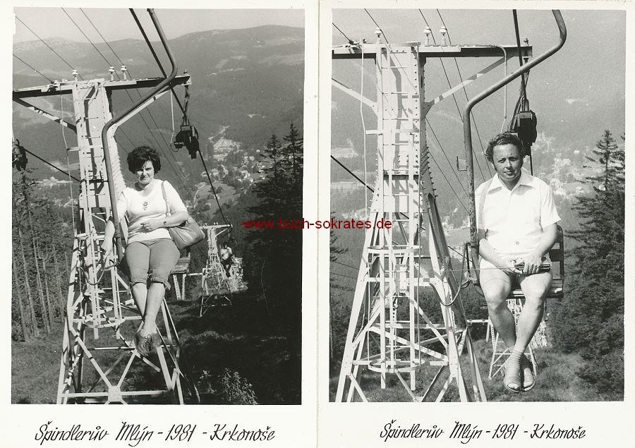 Fotos Ansichten der Stadt Spindleruv Mlyn im Riesengebirge (Tschechien, ehmals Sudetenland) (ca. 1960)