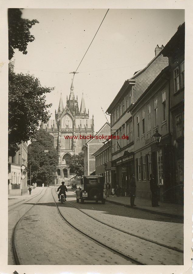 Foto Erfurter Dom mit Maria-Mosaikbild (ca. 1935)