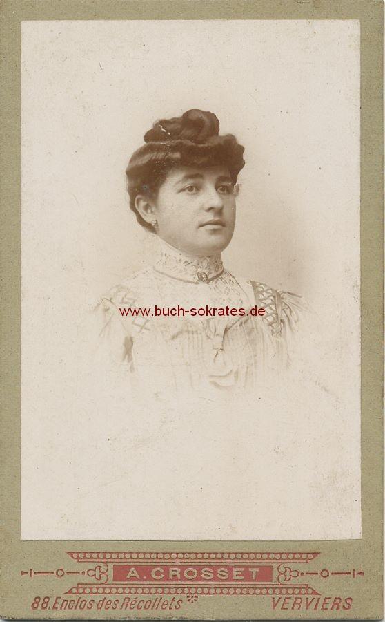 CdV Foto Frau Aus Verviers Im Kostum Mit Brosche Ca 1900 Zustandsbeschreibung Visitenkarte Carte De Visite