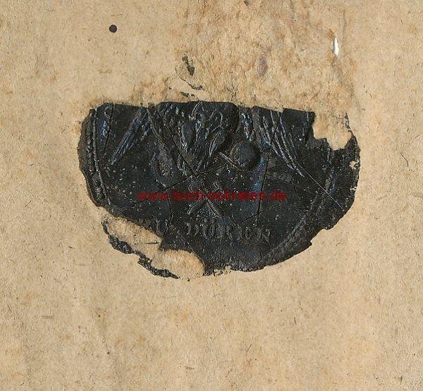 Briefumschlag mit schwarzem Siegel Düren u. Bergbausymbol, adressiert an den Bergwerk-Besitzer Joh. Wilh. Flaam in Büsbach (~1810)