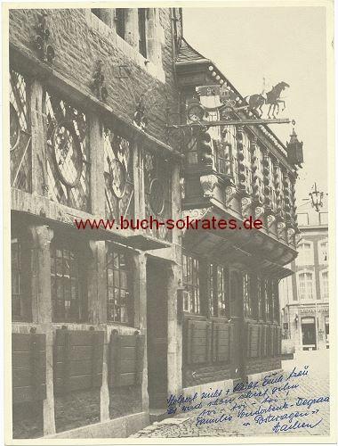 Foto-Karte Postwagen Markt Aachen
