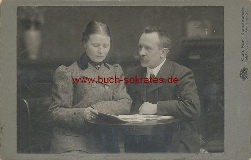 Paar mittleren Alters aus Karlsruhe (ca. 1910)
