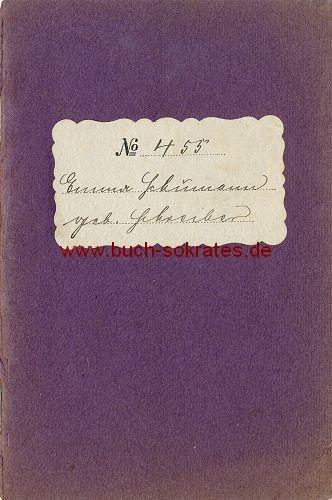 Mitglied-Buch der bürgerlichen Sterbekassengesellschaft zu Groß Salze (1919)