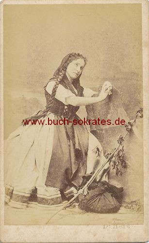 CdV Foto Junge Frau Aus Wien Im Folklore Kostum Ca 1870