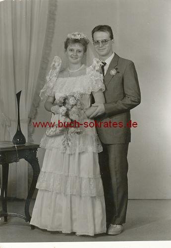 Hochzeitspaar aus Schirgiswalde / Sachsen (ca. 1980)