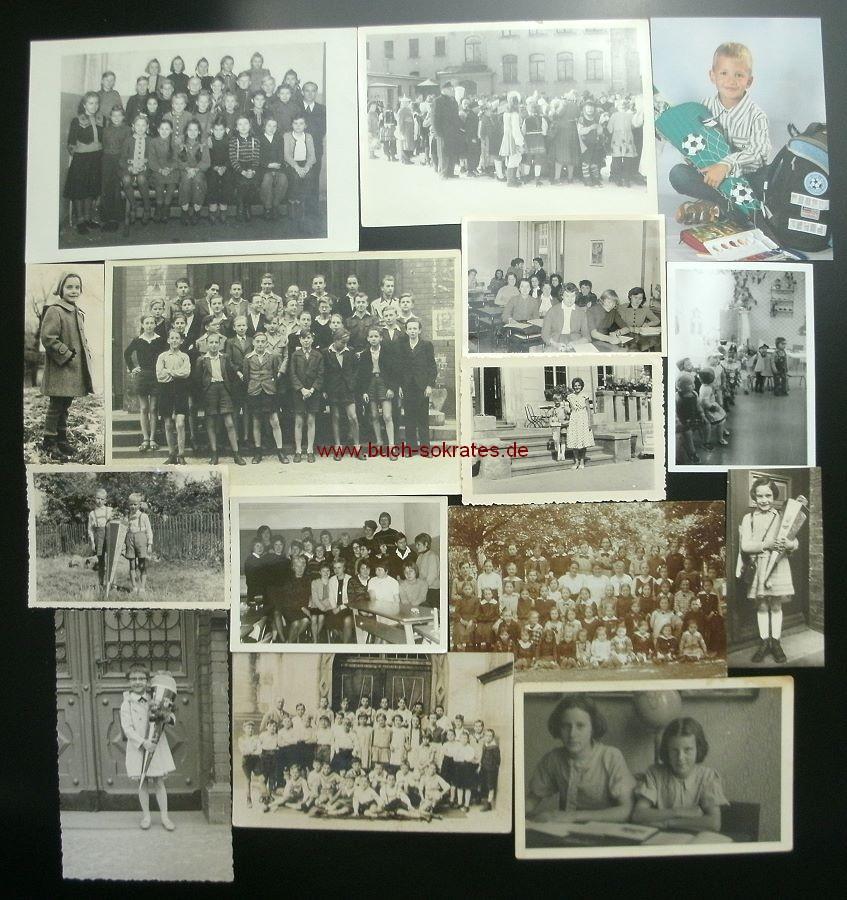 Farbe Nach Streichen Fleckig: Foto-Konvolut 25 Fotos Schule, Erster Schulgang