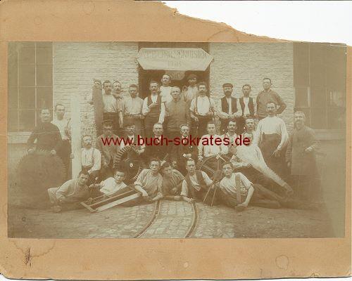 Gruppenfoto Handwerker aus Malmedy (1905)