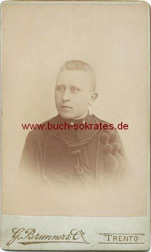 CdV Foto Junger Mann (wohl Polizist) aus Trento / Trient in Uniform (ca. 1910)