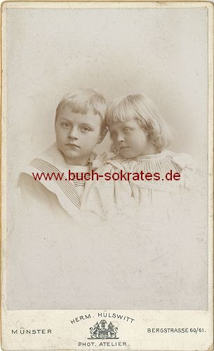 CdV Zwei Kinder aus Münster (ca. 1900)