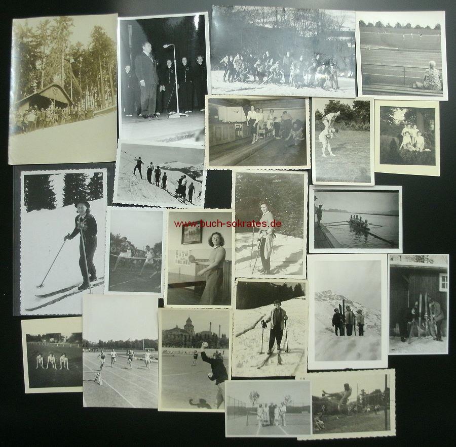 Foto-Konvolut Menschen beim Sport (ca. 1930-70)