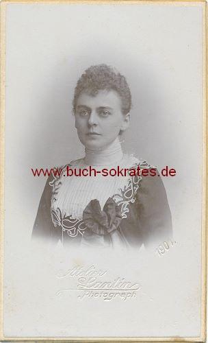 CdV Foto Junge Frau (aus Aachen?) (1901)