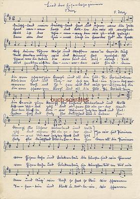 Musiknoten Propagandalied - Peter Klotz: Lied der Eisenbahnpioniere (1941)