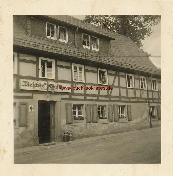 Foto Meschkes Gasthaus in Hohnstein / Sachsen (ca. 1955)