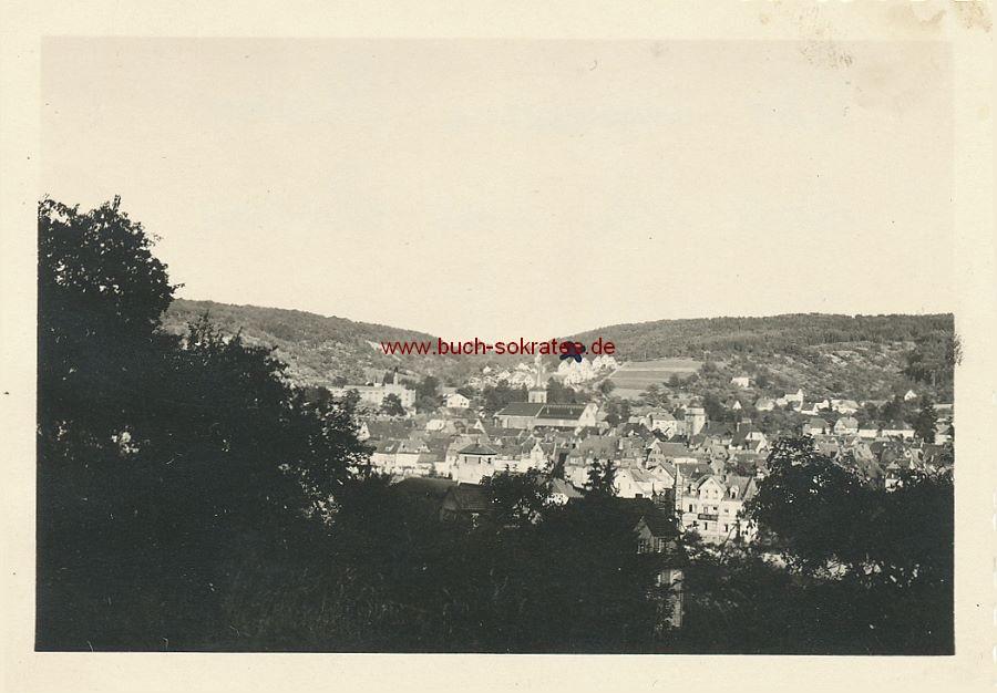 Foto Topographische Ansicht von Mosbach mit der Simultankirche / Stiftskirche St. Juliana (1949)
