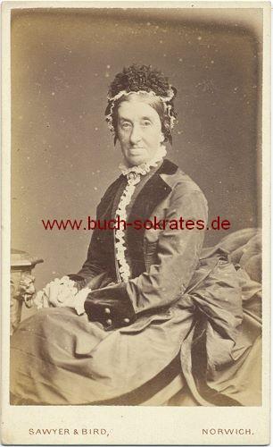 Alte Frau Aus Norwich England Mit Hut Ca 1880 Zustandsbeschreibung Visitenkarte Carte De Visite