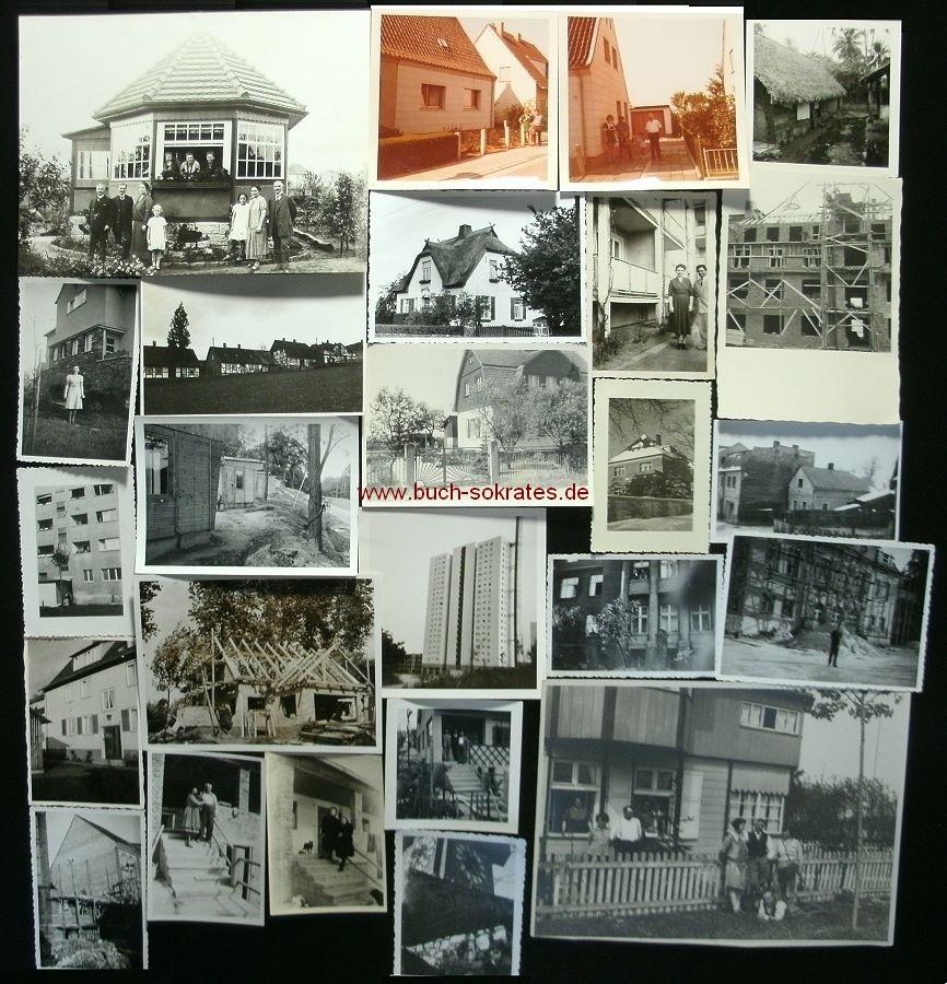Foto-Konvolut 47 Fotos Häuser / Architektur/ Hausbau ~30er