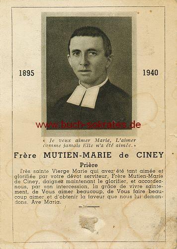 Totenbild: Priester aus Ciney / Belgien (1942)