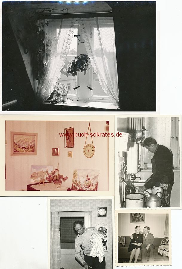 Foto-Konvolut Wohnungen / Inneneinrichtungen / Wohnkultur (ca. 1950-1960)