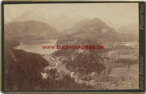 Landschaft in Füssen um das Schloss Hohenschwangau herum (ca. 1880)