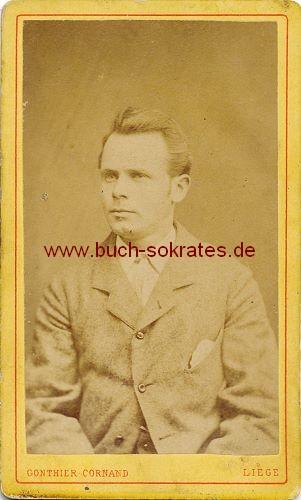 CdV Junger Mann Aus Luttich Liege Ca 1880 Zustandsbeschreibung Visitenkarte Carte De Visite