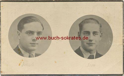 Totenbild: 2 junge Soldaten aus Welkenraedt / Belgien (1944)