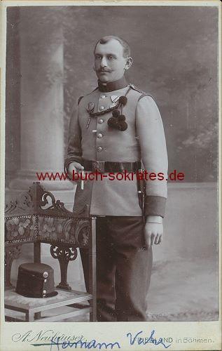 Soldat mittleren Alters aus Friedland in Böhmen (ca. 1910)