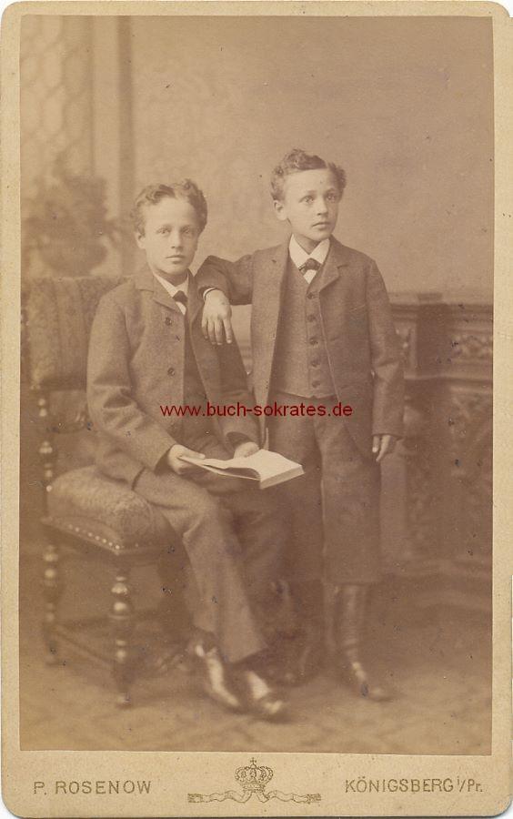 CdV Foto 2 Jungen Aus Konigsberg Ostpreussen Kaliningrad Ca 1880 Zustandsbeschreibung Visitenkarte Carte De Visite