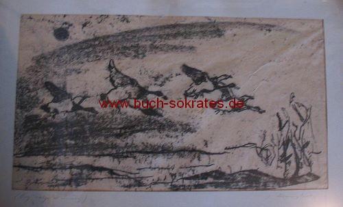 Josef Kranzhoff: Fliegende Enten (Handzeichnung)