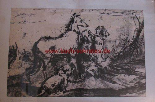 Josef Kranzhoff: Hunde (Handzeichnung)