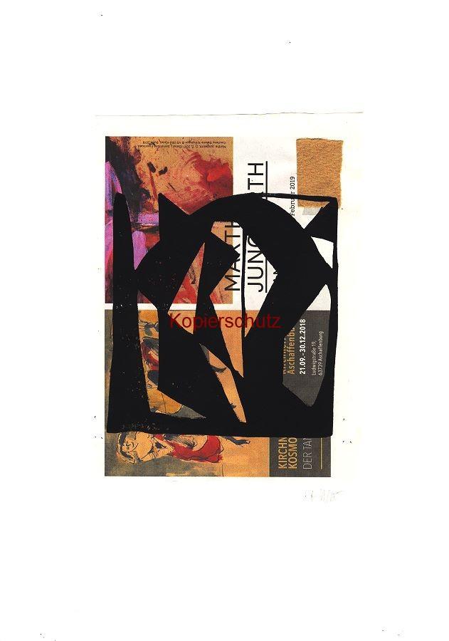 Original-Linolschnitt - Marco Gerke: Alter Mann mit Baskenmütze / Barett (2018)