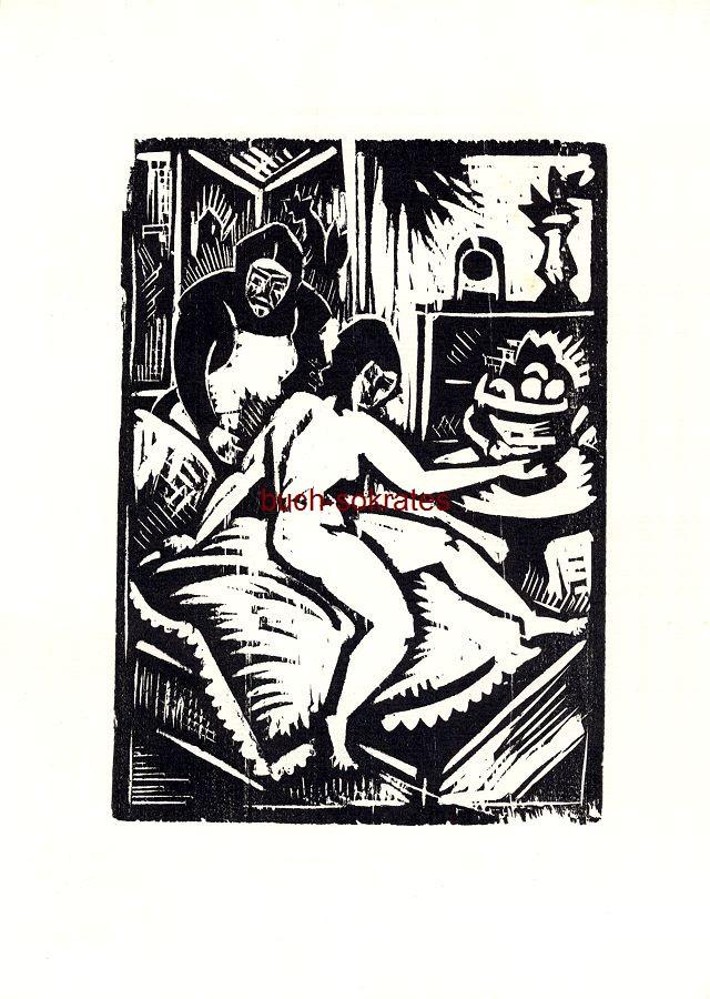Bernhard Klein: o.T. (Beim Aufstehen / weiblicher Akt auf dem Bett) (1919/1968)