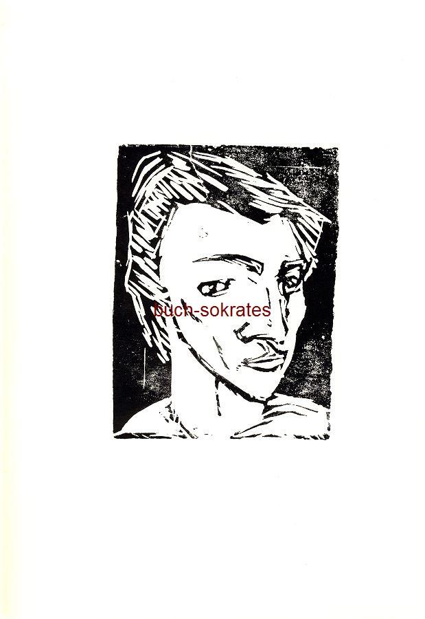 Original-Linolschnitt unbekannter Künstler: o.T. (Frauenkopf, Porträt Frau) - Linocut, gravure sur linoléum (ca. 1930/2017)