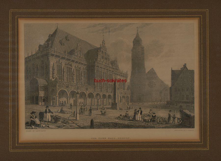 John Godden: The Town Hall, Bremen / Bremer Rathaus (ca. 1860)