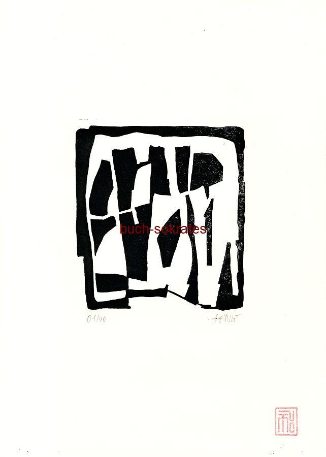 Original-Linolschnitt Marco Gerke: Hain (2018)