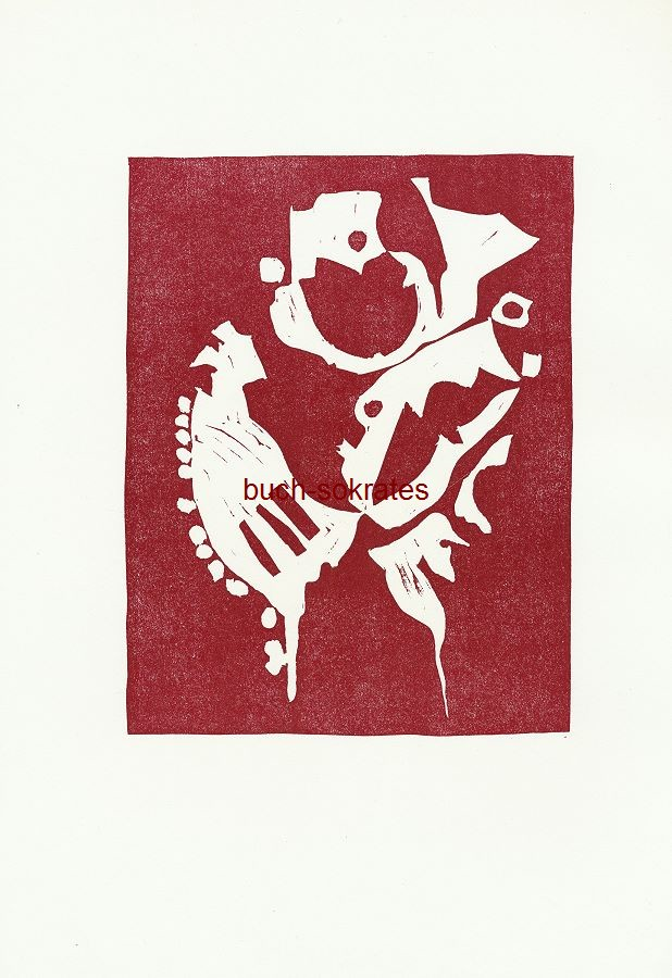 Original-Linolschnitt Christa Düll: Morgenfrühe (GN2-80)